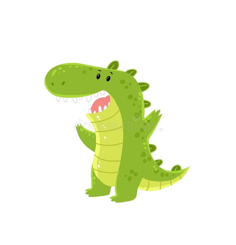 Krokodilkarikatur lizenzfreie stockbilder