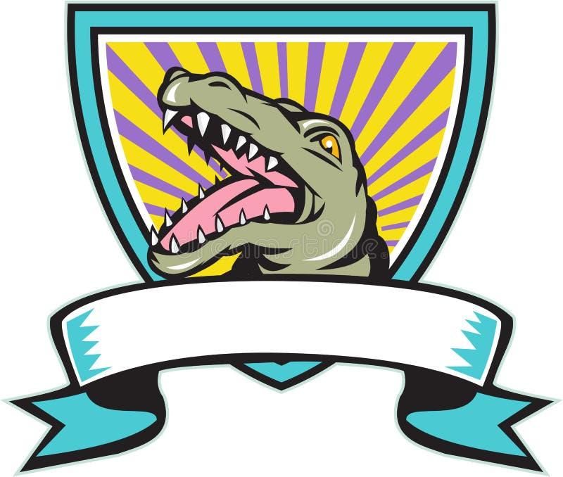 Krokodille Brekend Retro CREST vector illustratie