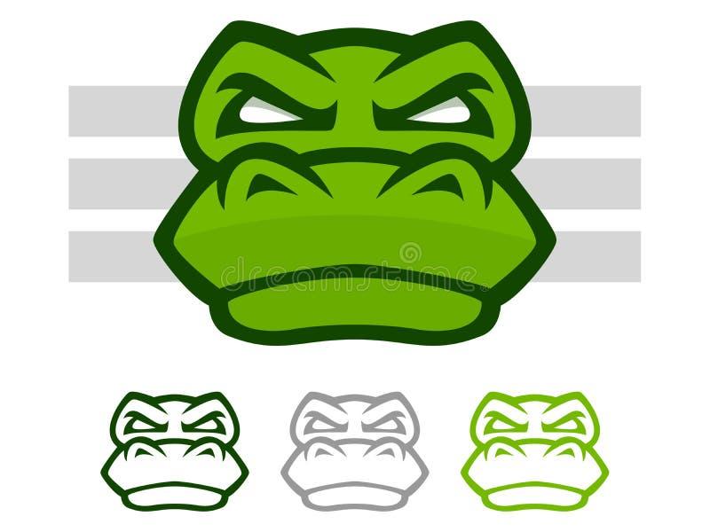 Krokodilmascotte vector illustratie