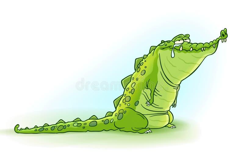 Krokodiltårar royaltyfri illustrationer