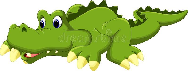 Krokodiltecknad film vektor illustrationer