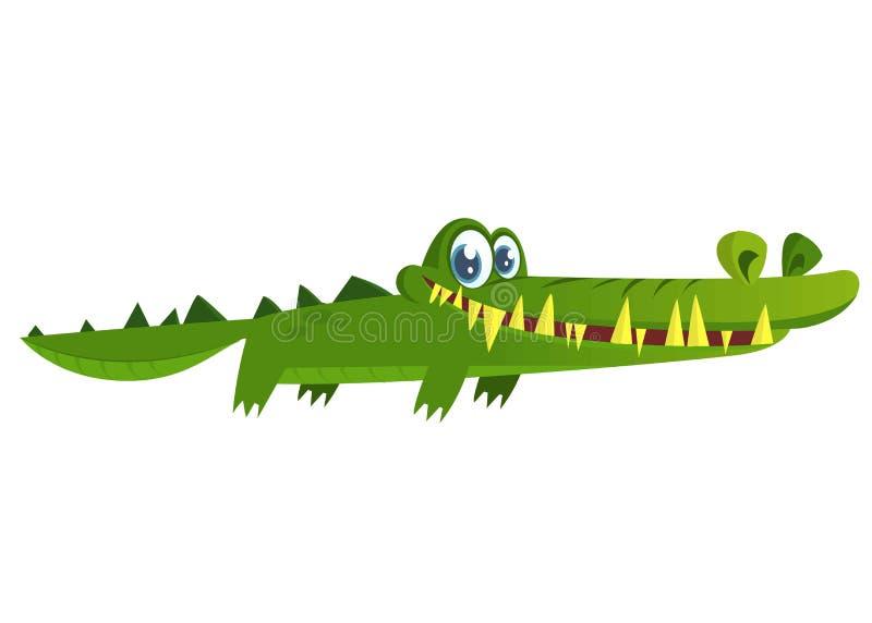 krokodyl śliczny Wektorowa charakter ilustracja odizolowywająca ilustracja wektor