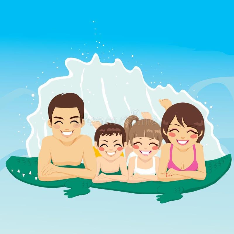 Krokodyl tubki Rodzinny wakacje ilustracja wektor