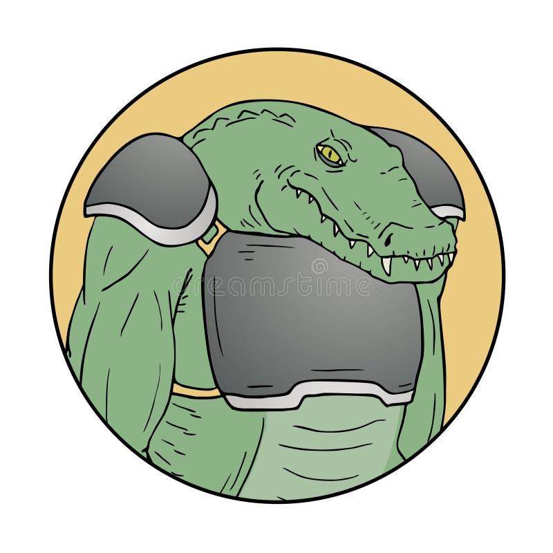 Krokodyla mutant ilustracji