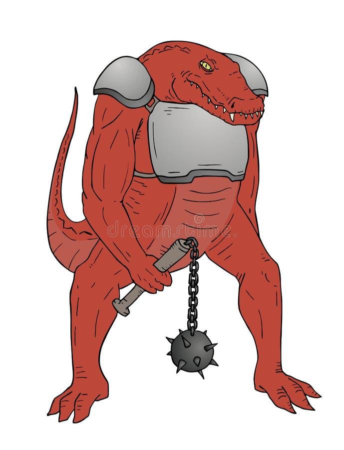 Krokodyla mutant ilustracja wektor