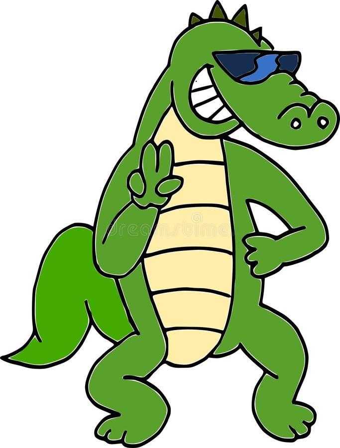 krokodyli okulary przeciwsłoneczne zdjęcie royalty free