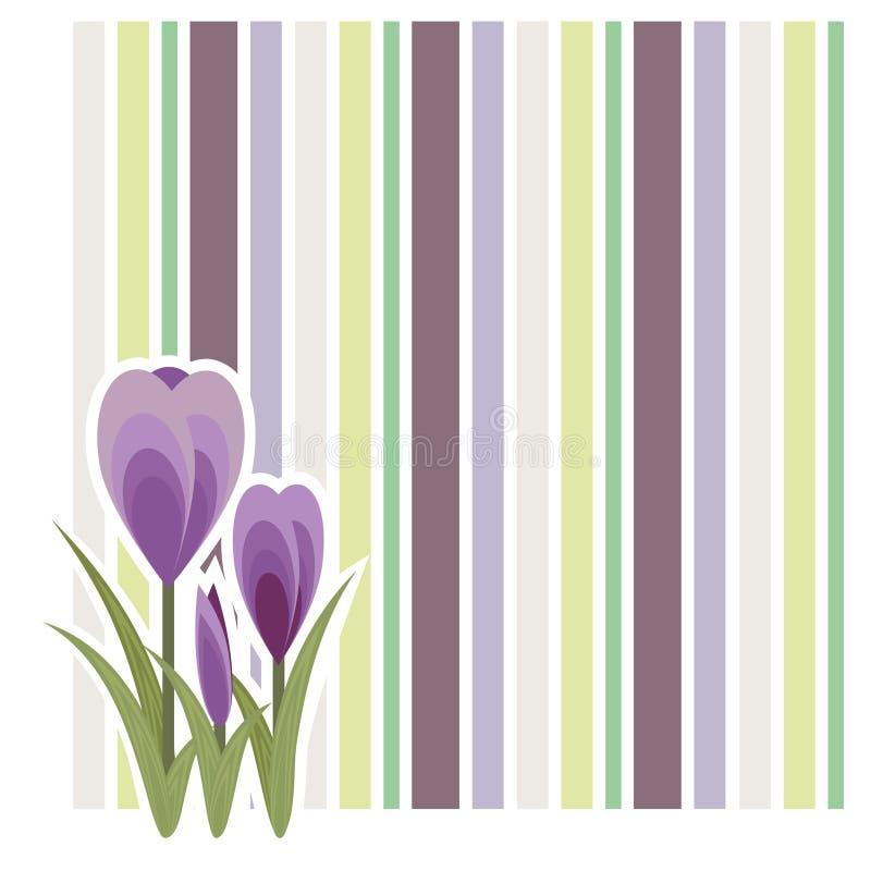 Download Krokusontwerp vector illustratie. Illustratie bestaande uit drie - 39106524