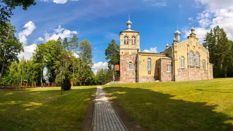 Orthodox church of St. Anna in Krolowy Most. stock images