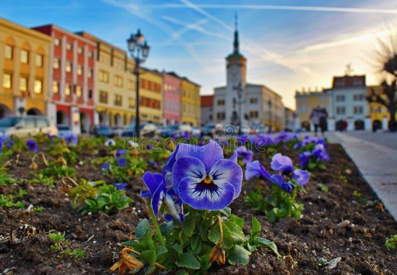 Kromeriz German Kremsier, nicknamed Haná Athens. In 1997, Kroměříž was declared the most beautiful historical town in the Czech Republic and a year later stock photo