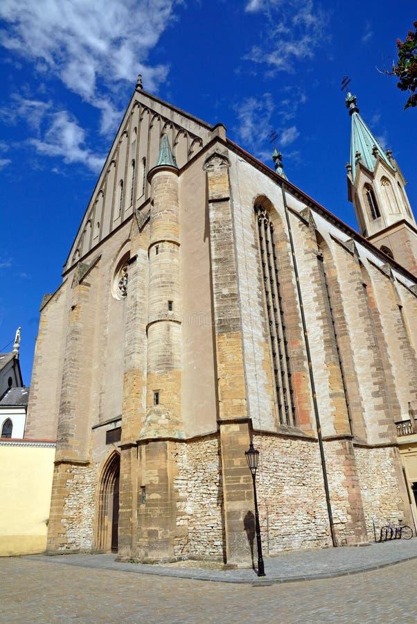 Kromeriz, iglesia de St. Mauricio foto de archivo libre de regalías