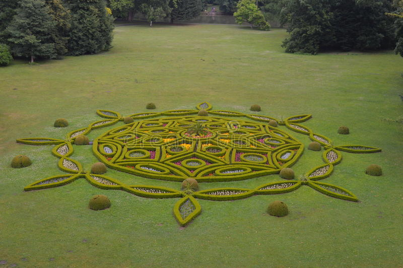 Kromeriz kasztelu ogródy obraz royalty free