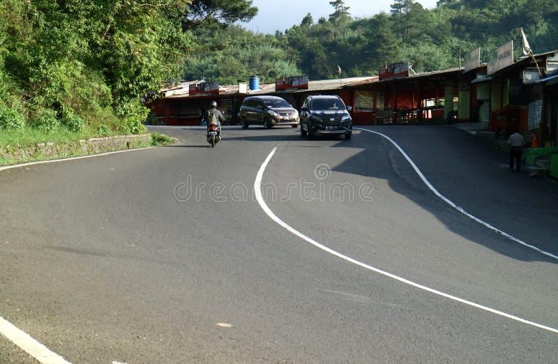 Krommestraat in Bogor royalty-vrije stock afbeelding