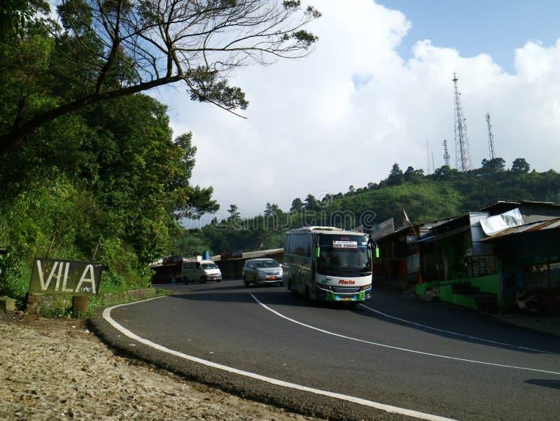 Krommestraat in Bogor royalty-vrije stock foto's