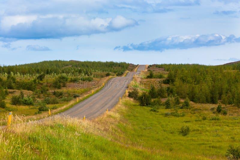 Krommeweg in Noord-IJsland stock afbeeldingen