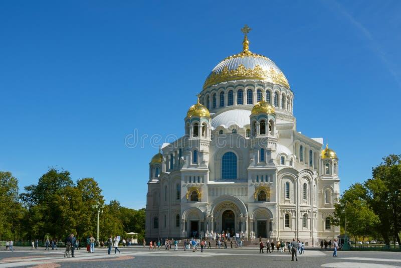 Kronštadt, st Nicholas Naval Cathedral fotografia stock libera da diritti