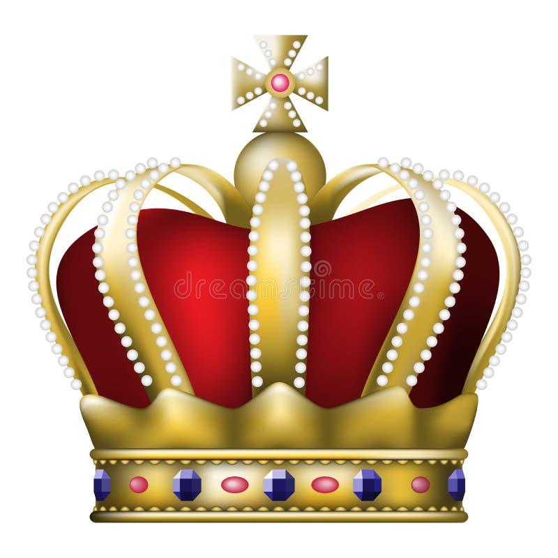 krona royaltyfri illustrationer