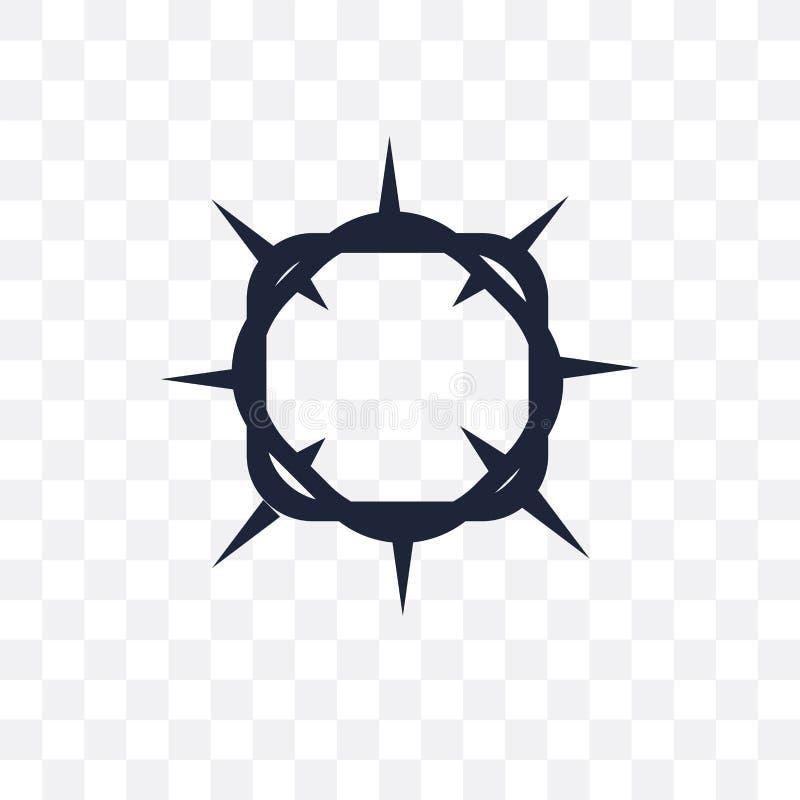 Krona av den genomskinliga symbolen för taggar Krona av taggsymboldesignen vektor illustrationer