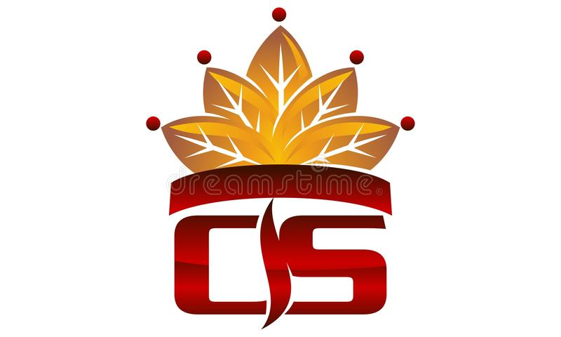 Krona för bokstavsCScigarett vektor illustrationer