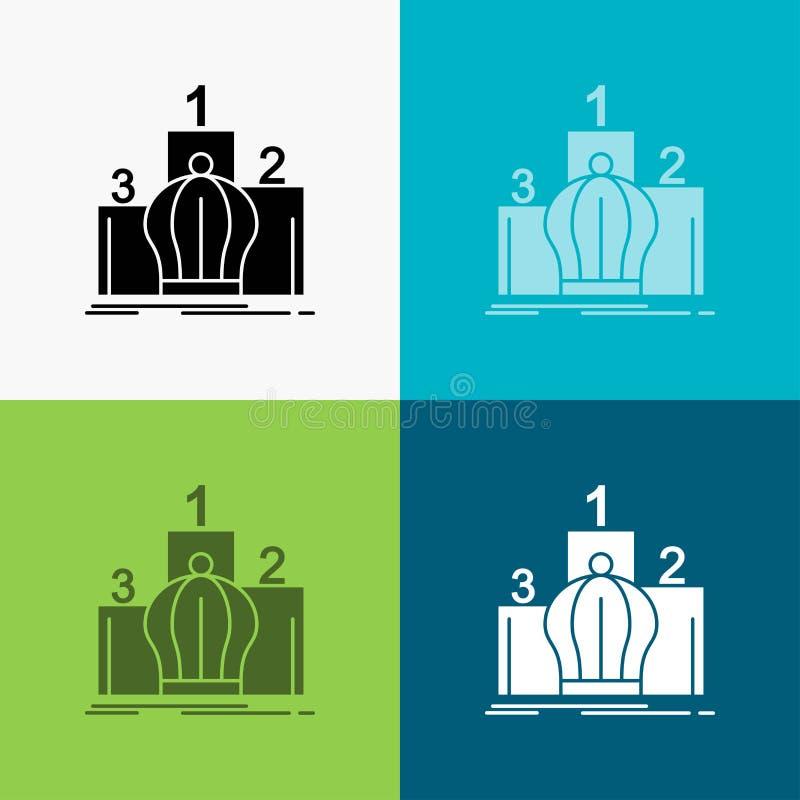 Krona konung, ledarskap, monarki, kunglig symbol över olik bakgrund sk?rastildesign som planl?ggs f?r reng?ringsduk och app Vekto vektor illustrationer