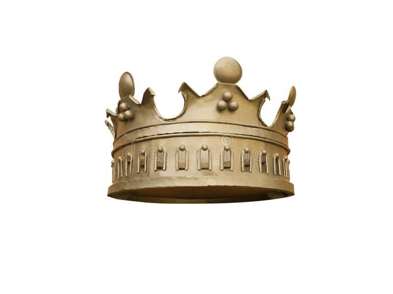 Krona på en vit bakgrund royaltyfri fotografi
