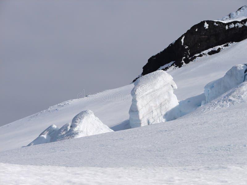 kronaglaciären jan mayen olav prince s royaltyfria foton