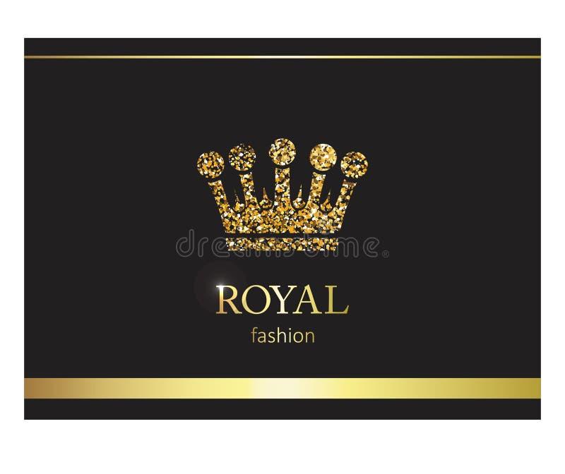 kronaguld pryder med pärlor röda rubies Lyxig etikett, emblem eller emballage com för alternativet colldet10709 colldet10711 plan stock illustrationer