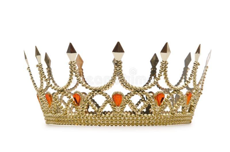 kronaguldwhite royaltyfri bild