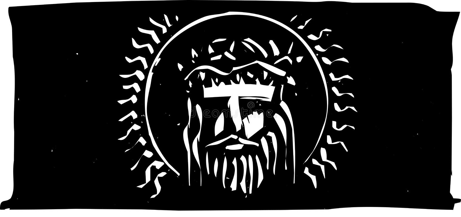 kronajesus tagg vektor illustrationer