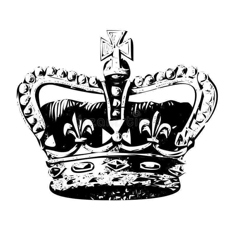 kronakonungvektor royaltyfri illustrationer