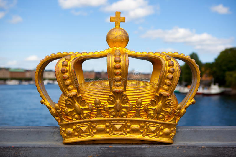 kronakunglig person stockholm arkivfoto