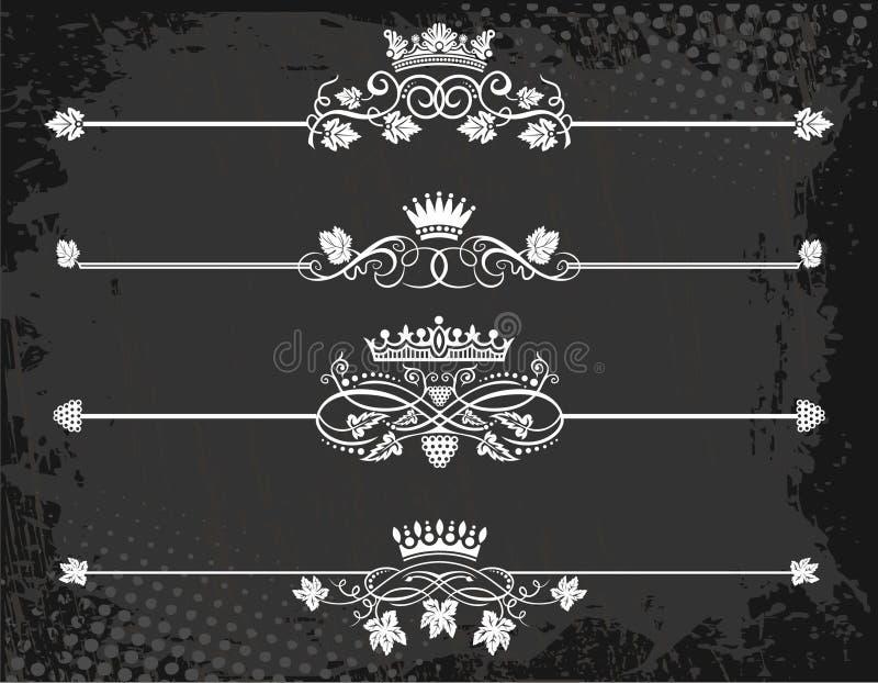 kronalinje regal regel stock illustrationer