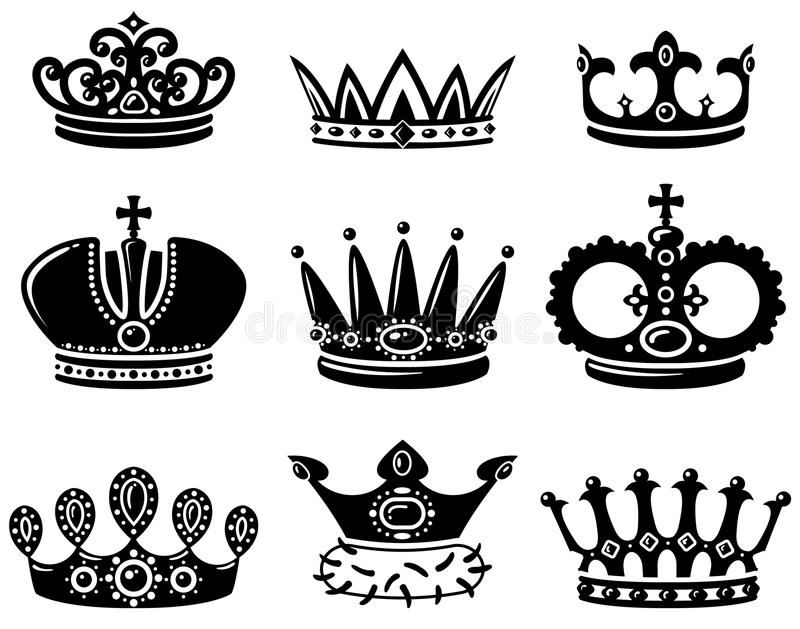kronaset royaltyfri illustrationer