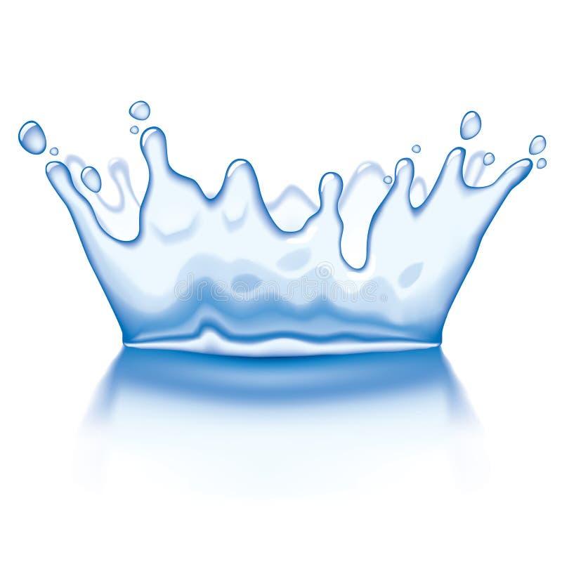 kronavatten royaltyfri illustrationer