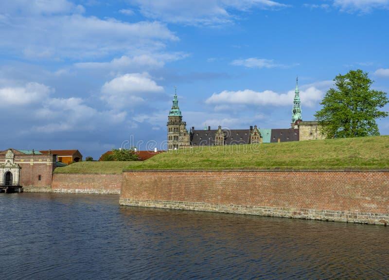 Kronborg castle, Helsingor, Zealand, Danmark, Europe. Kronborg castle in Helsingor, Zealand, Danmark, Europe stock images
