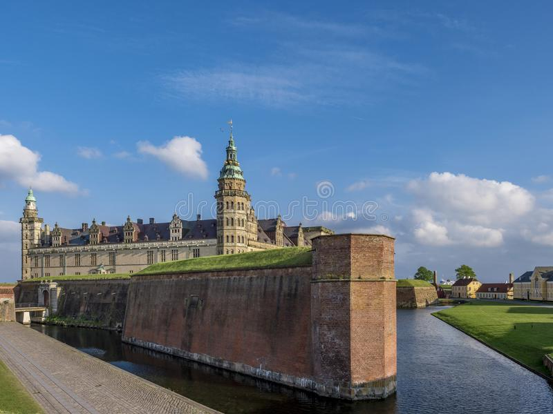Kronborg castle, Helsingor, Zealand, Danmark, Europe. Kronborg castle in Helsingor, Zealand, Danmark, Europe stock image
