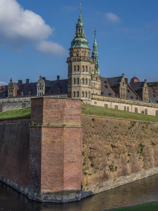 Kronborg castle, Helsingor, Zealand, Danmark, Europe. Kronborg castle in Helsingor, Zealand, Danmark, Europe royalty free stock photos