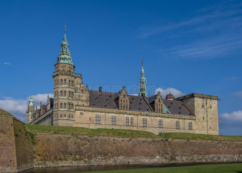 Kronborg castle, Helsingor, Zealand, Danmark, Europe. Kronborg castle in Helsingor, Zealand, Danmark, Europe royalty free stock images