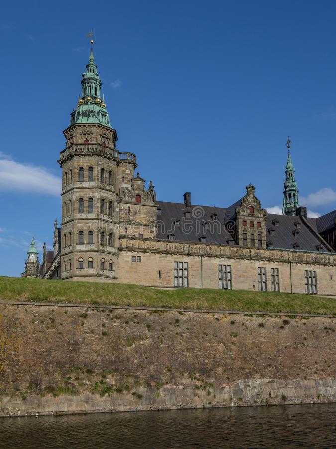 Kronborg castle, Helsingor, Zealand, Danmark, Europe. Kronborg castle in Helsingor, Zealand, Danmark, Europe royalty free stock image
