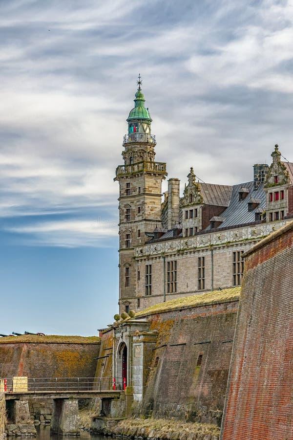 Kronborg slottfyr fotografering för bildbyråer