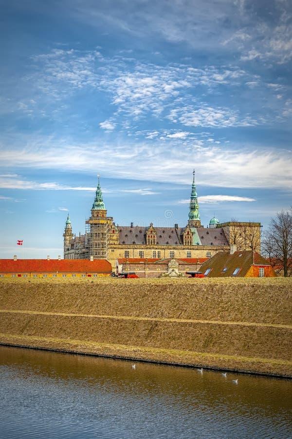 Kronborg slottstående royaltyfri fotografi