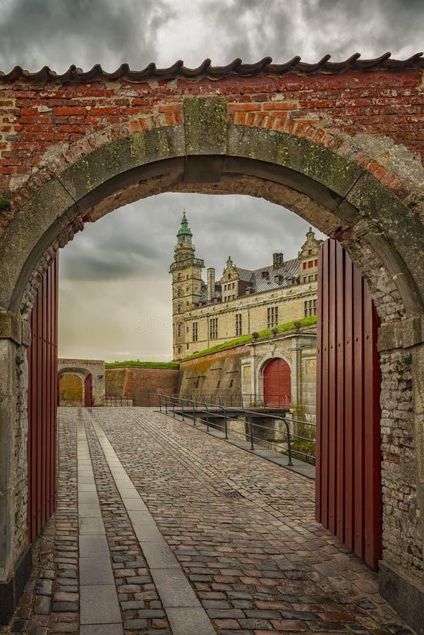 Kronborg slottvalvgång arkivfoton