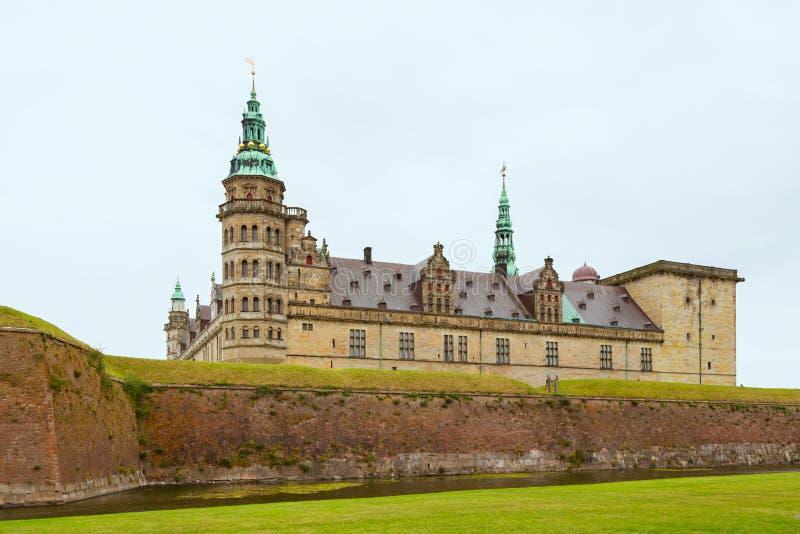 Kronborgkasteel de stad van Helsingor, Denemarken stock afbeeldingen