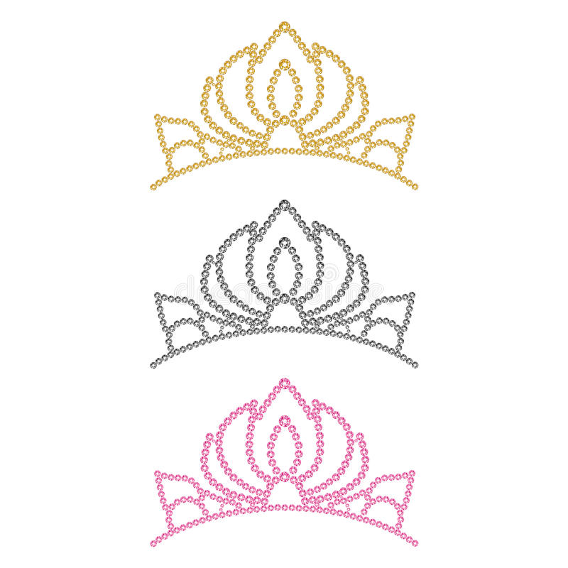 Krone der Frauen. vektor abbildung