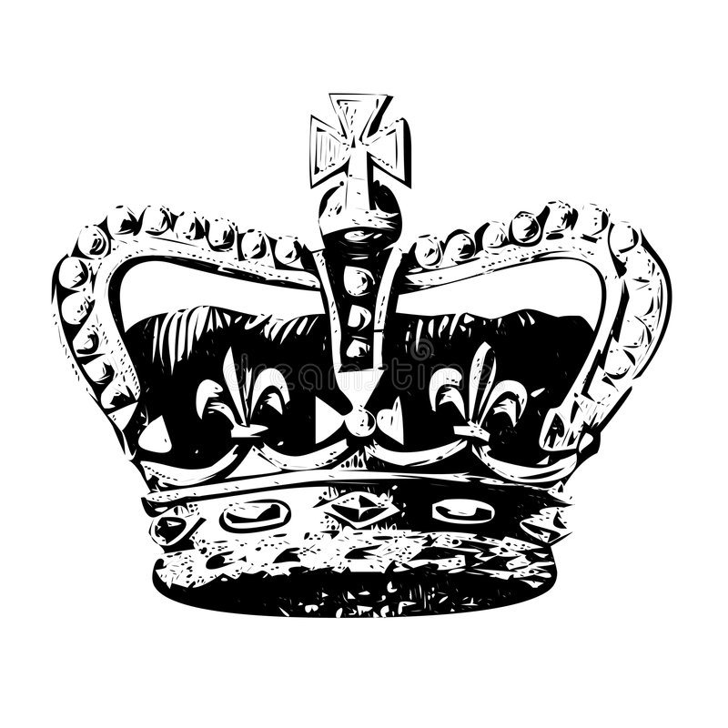 Krone des Königvektors lizenzfreie abbildung