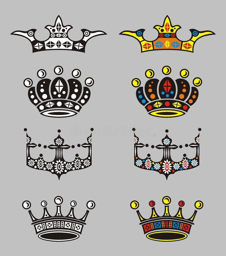 Kronen lizenzfreie abbildung