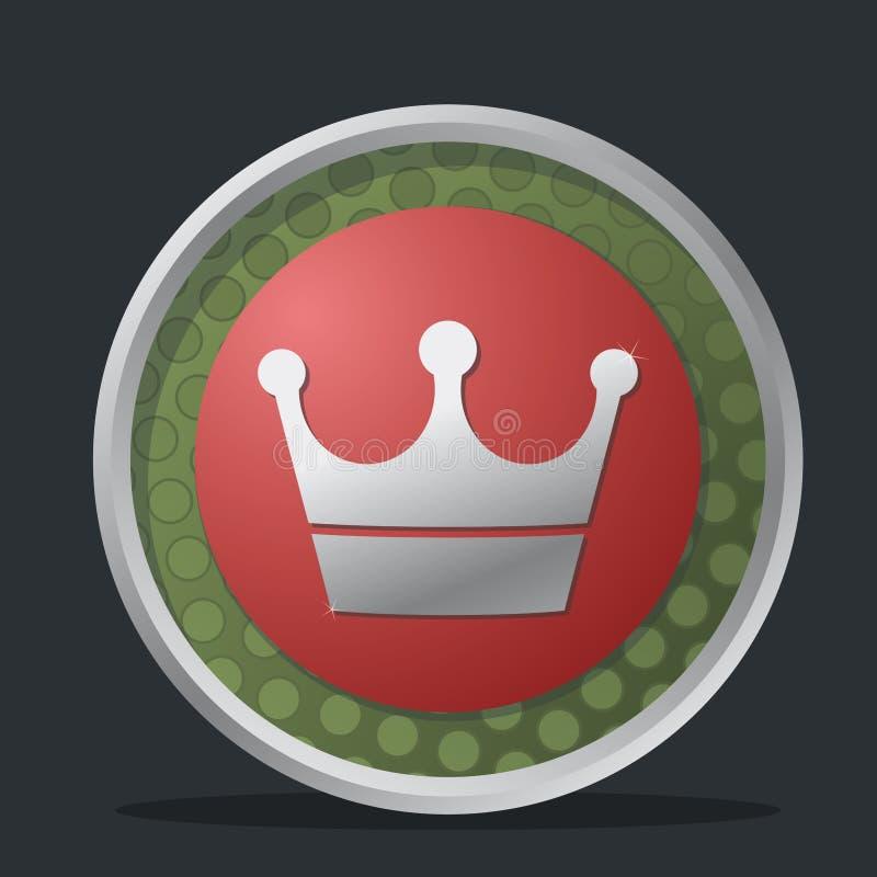 Kronendunkelheitabzeichen stock abbildung