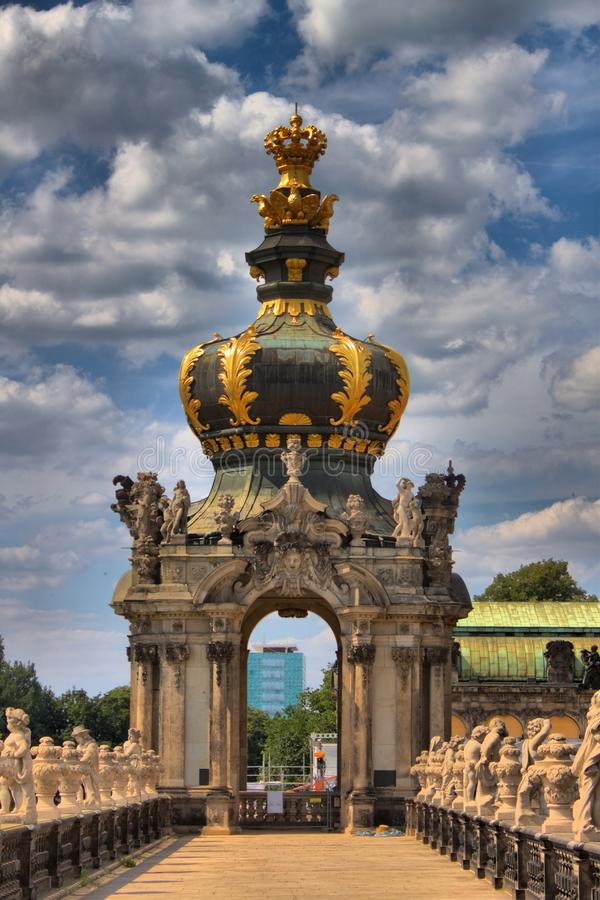 Kronentor of the Zwinger palace in Dresden royalty free stock image