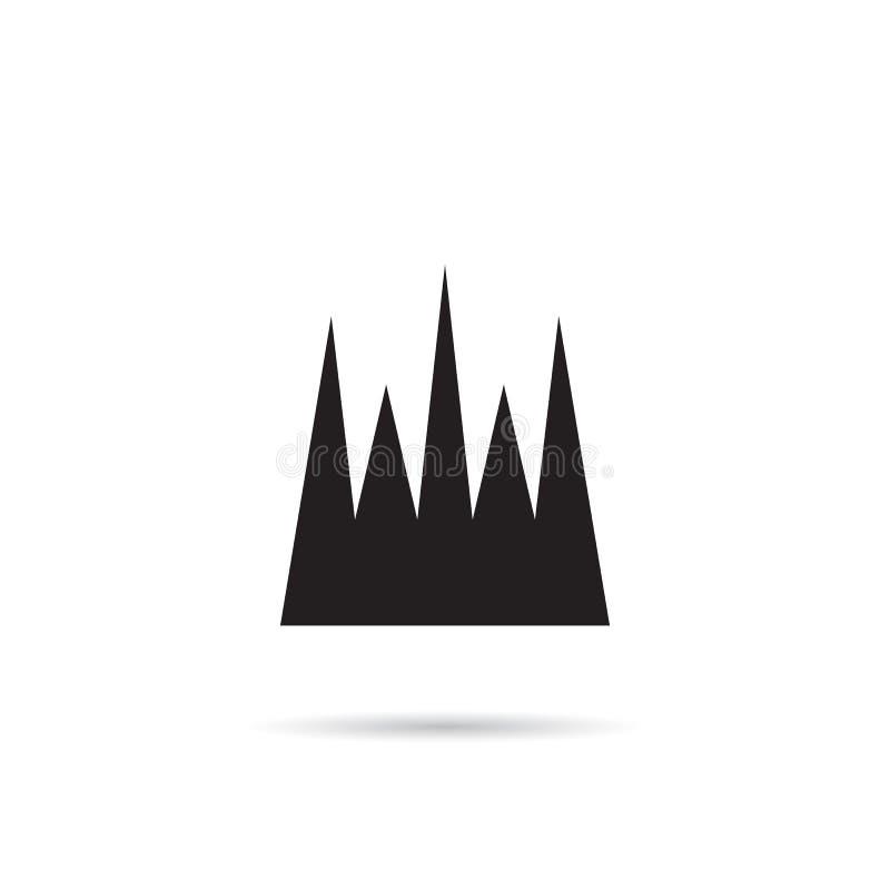 Kronenvektorikone stock abbildung