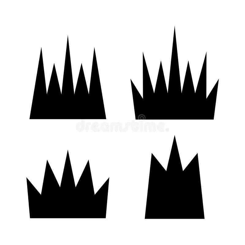 Kronenvektorikone lizenzfreie abbildung
