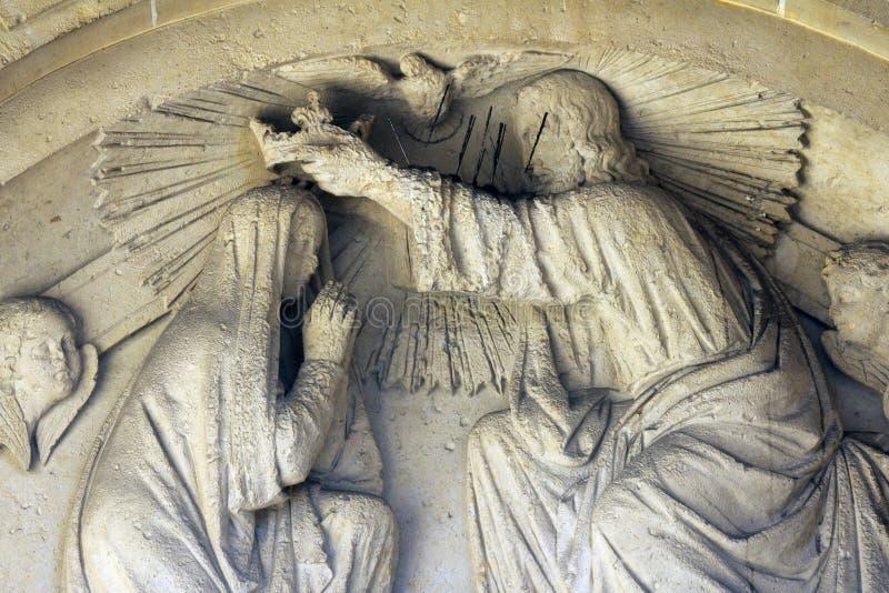 Kroning van Heilige Maagdelijke Mary stock fotografie